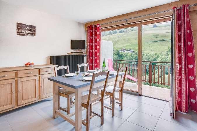Location au ski Appartement 2 pièces 4 personnes (304) - Residence L'androsace - Le Grand Bornand - Salle à manger