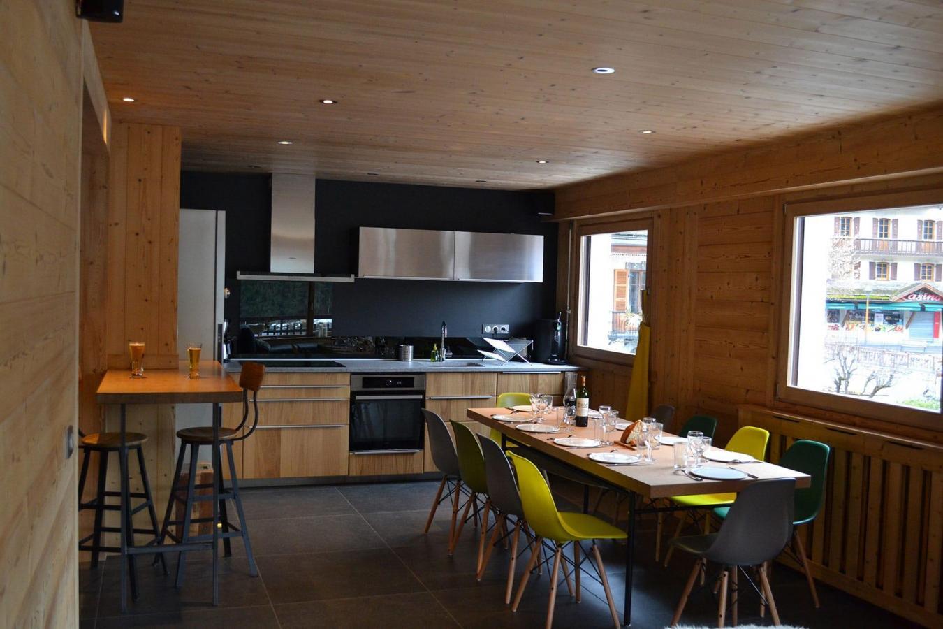Location au ski Appartement 5 pièces 10 personnes (001) - Residence Le Danay - Le Grand Bornand - Coin repas
