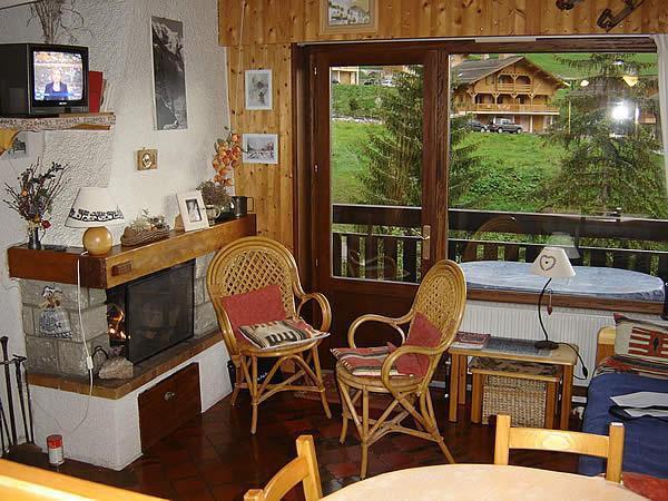 Location au ski Appartement 2 pièces mezzanine 5 personnes (301) - Residence Le Venay - Le Grand Bornand - Cheminée