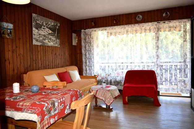 Location au ski Studio coin montagne 4 personnes (419) - Residence Les Arces - Le Grand Bornand - Coin séjour