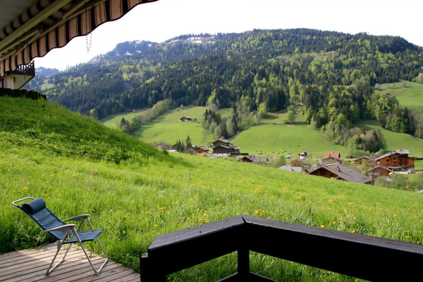 Location au ski Appartement 3 pièces 6 personnes (001) - Residence Les Dodes - Le Grand Bornand - Balcon