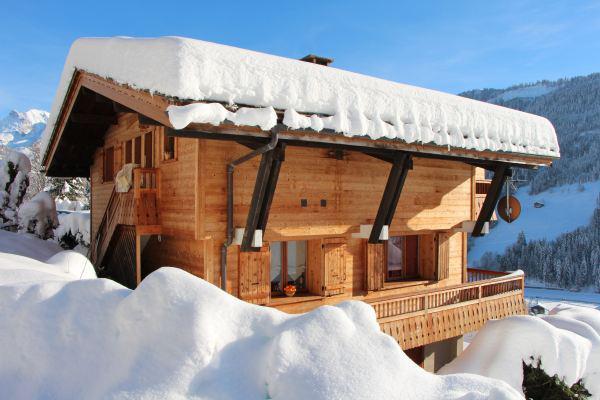 Wynajem na narty Apartament 2 pokojowy kabina 6 osób - Chalet Etche Ona - Le Grand Bornand - Zima na zewnątrz