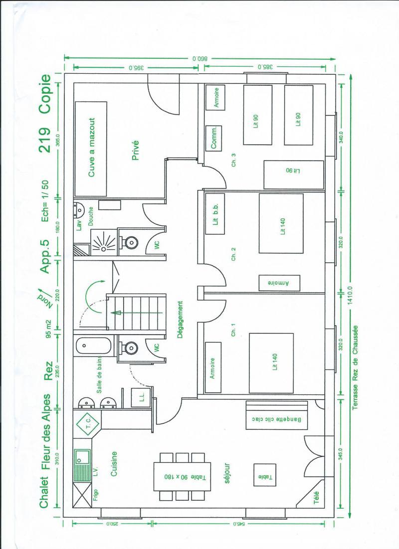 Wynajem na narty Apartament 4 pokojowy 9 osób (326) - Chalet Fleur des Alpes - Le Grand Bornand