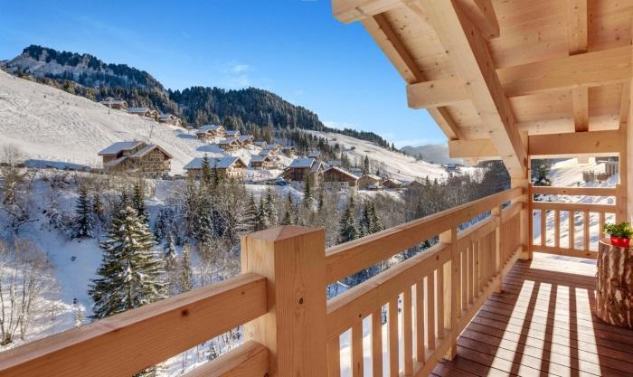 Wynajem na narty Chalet Meringue - Le Grand Bornand - Balkon