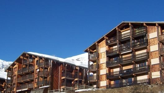 Holiday in mountain resort Studio cabin 4 people (299/301) - Les Chalets de Lessy - Le Grand Bornand - Winter outside