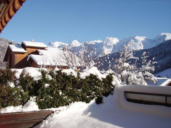 Holiday in mountain resort Studio cabin 4 people (3181) - Résidence le Cornillon - Le Grand Bornand - Winter outside
