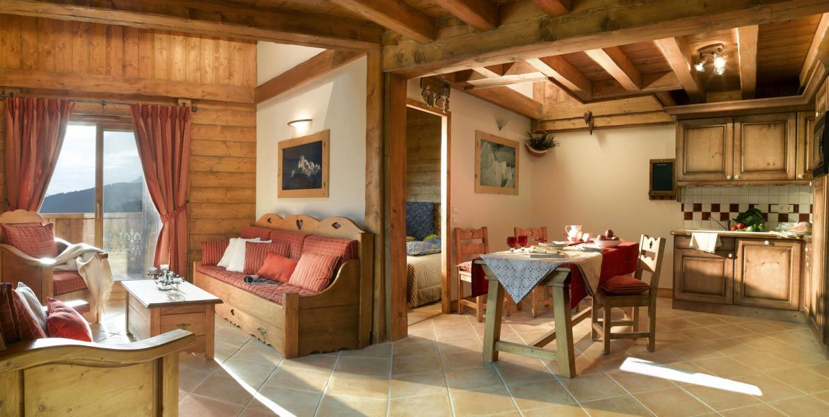 Alquiler al esquí Résidence le Village de Lessy - Le Grand Bornand - Comedor
