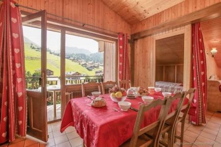 Location au ski Appartement 3 pièces 6 personnes (309) - Residence L'androsace - Le Grand Bornand - Salle à manger