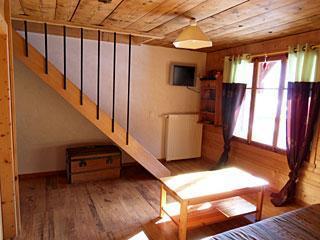 Location au ski Appartement 3 pièces 7 personnes (001) - Residence La Cha - Le Grand Bornand - Séjour