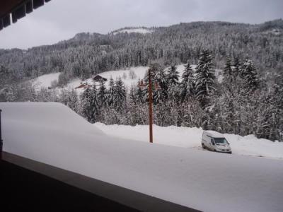 Location au ski Studio cabine 4 personnes (1724) - Residence La Duche - Le Grand Bornand - Extérieur hiver