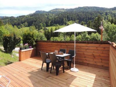 Soggiorno sugli sci Résidence la Duche - Le Grand Bornand - Terrazza-giardino