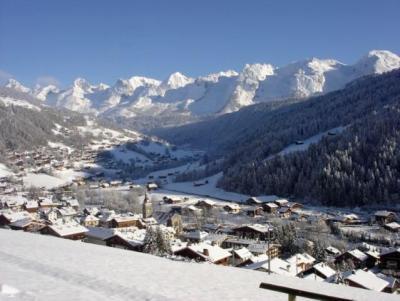 Location au ski Studio 4 personnes (005) - Residence La Forclaz - Le Grand Bornand - Extérieur hiver