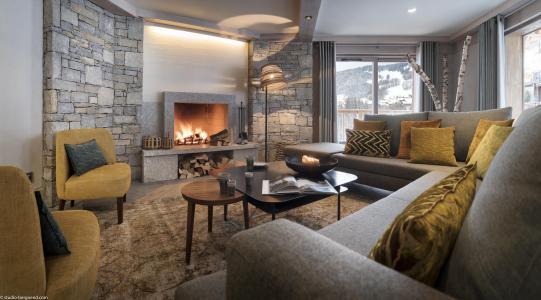 Rent in ski resort Résidence le Roc des Tours - Le Grand Bornand - Fireplace