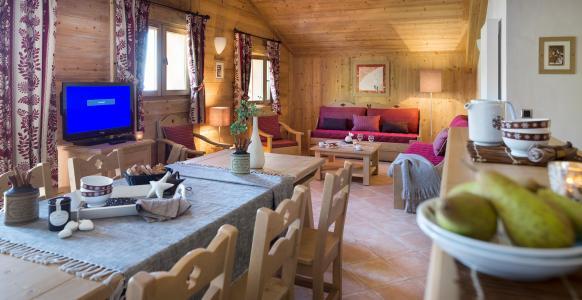 Rent in ski resort Résidence le Village de Lessy - Le Grand Bornand - Living room