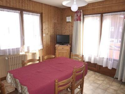 Location au ski Appartement 3 pièces 6 personnes (001) - Residence Les Tilleuls - Le Grand Bornand - Salle à manger