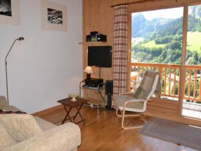 Location au ski Appartement 3 pièces 4 personnes (034) - Residence Refuge Des Outalays - Le Grand Bornand - Séjour