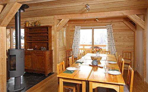 Location au ski Chalet 7 pièces 18 personnes - Chalet La Muzelle - Les 2 Alpes - Salle à manger