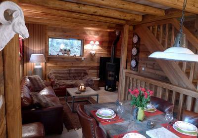 Location au ski Chalet 4 pièces 8 personnes - Chalet Les Alpages - Les 2 Alpes - Coin repas