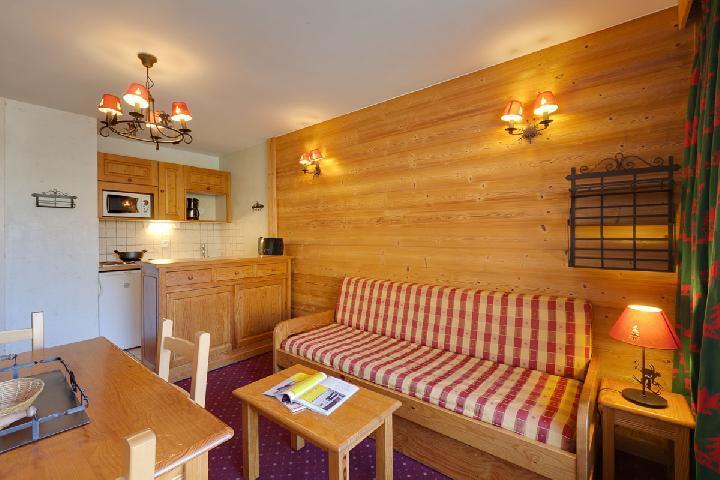 Location au ski Studio 4 personnes (308) - Residence Meijotel Centaines - Les 2 Alpes - Séjour