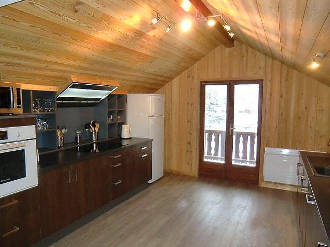 Location au ski Chalet Erika - Les 2 Alpes - Cuisine ouverte