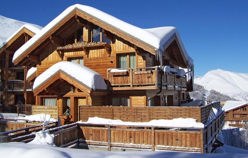 Location au ski Chalet Harmonie - Les 2 Alpes - Extérieur hiver