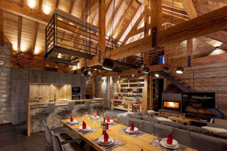 Аренда на лыжном курорте Chalet L'Atelier - Les 2 Alpes - Столова&