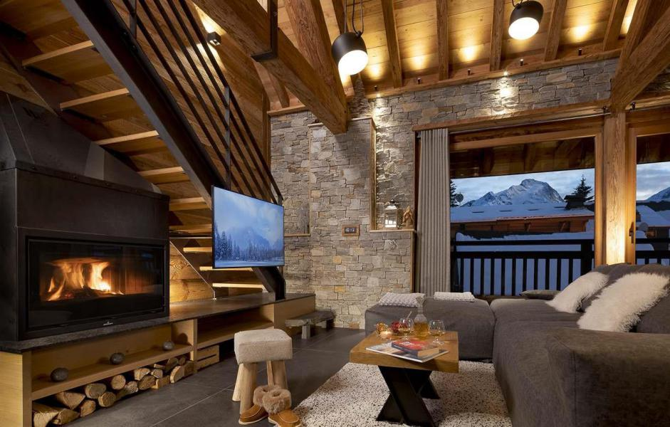 Аренда на лыжном курорте Chalet L'Atelier - Les 2 Alpes - Камин
