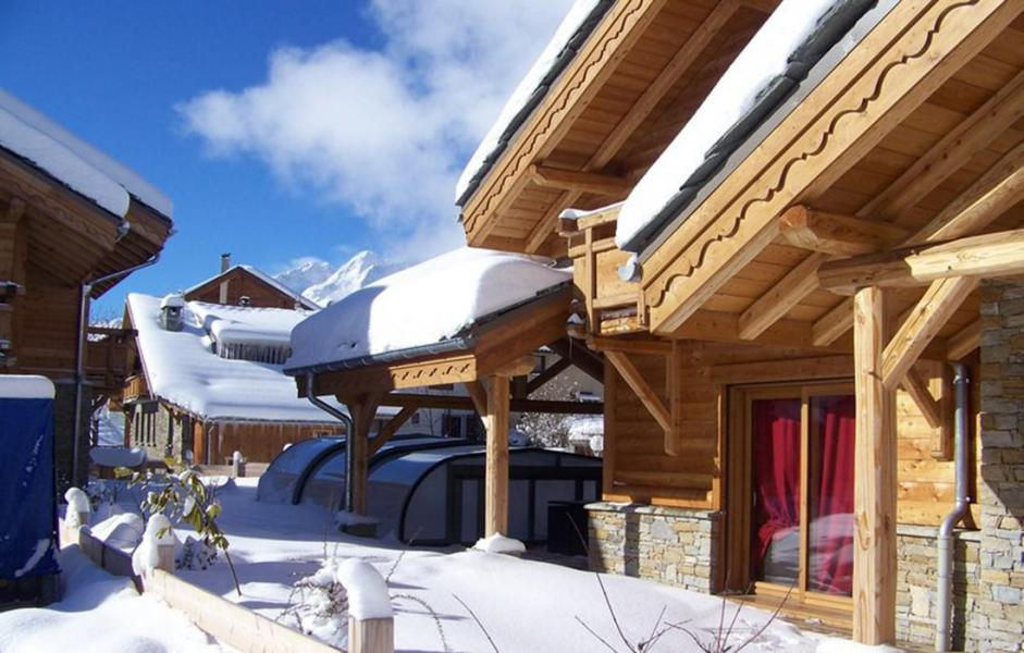 Ski verhuur Chalet Le Renard Lodge - Les 2 Alpes - Buiten winter