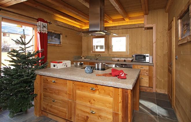 Location au ski Chalet Le Renard Lodge - Les 2 Alpes - Cuisine ouverte