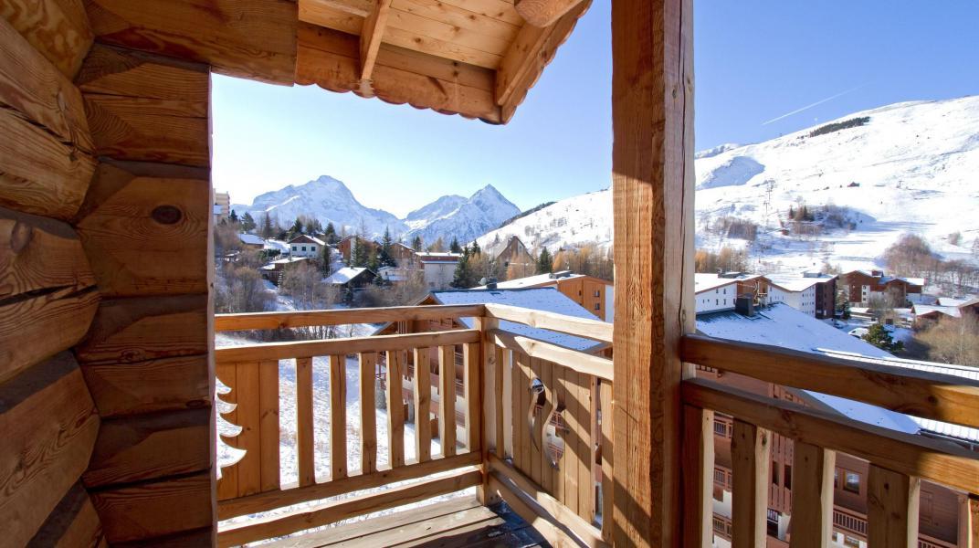 Аренда на лыжном курорте Chalet Leslie Alpen - Les 2 Alpes - зимой под открытым небом