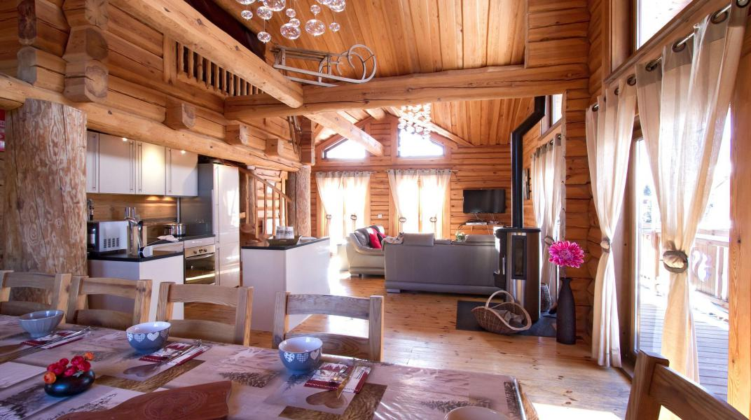 Аренда на лыжном курорте Chalet Leslie Alpen - Les 2 Alpes - Столова&