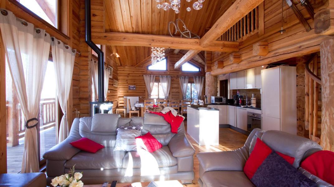 Аренда на лыжном курорте Chalet Leslie Alpen - Les 2 Alpes - Салон