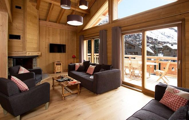 Location au ski Chalet Levanna Occidentale - Les 2 Alpes - Séjour