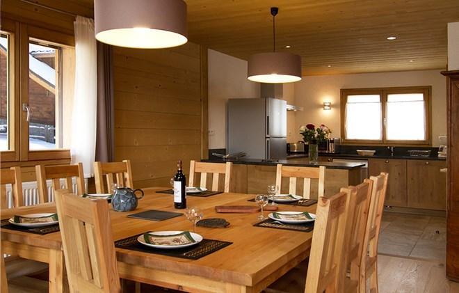 Soggiorno sugli sci Chalet Levanna Orientale - Les 2 Alpes - Angolo pranzo