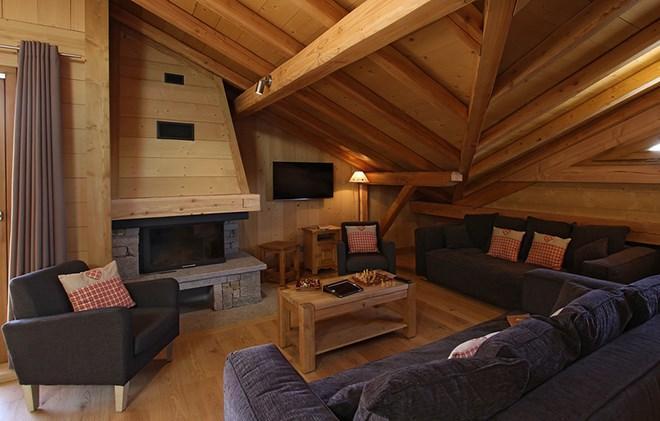 Location au ski Chalet Levanna Orientale - Les 2 Alpes - Séjour