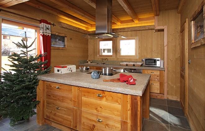 Location au ski Chalet Prestige Lodge - Les 2 Alpes - Cuisine ouverte