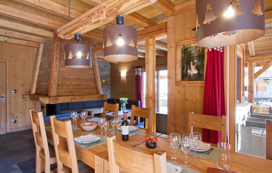 Location au ski Chalet Prestige Lodge - Les 2 Alpes - Salle à manger