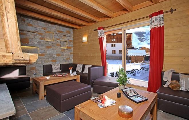 Location au ski Chalet Prestige Lodge - Les 2 Alpes - Séjour