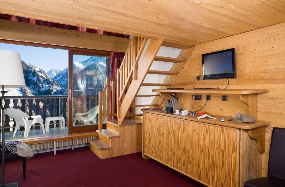 Location au ski Hôtel Ibiza - Les 2 Alpes - Coin séjour