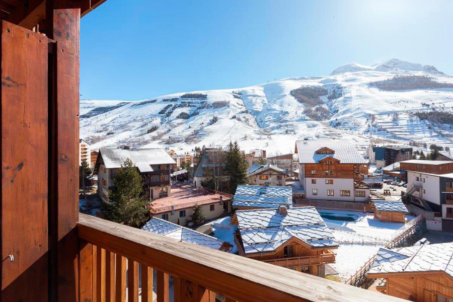 Location au ski Résidence Andromède - Les 2 Alpes - Extérieur hiver