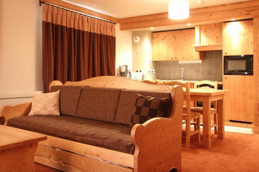 Location au ski Résidence l'Alba - Les 2 Alpes - Banquette-lit