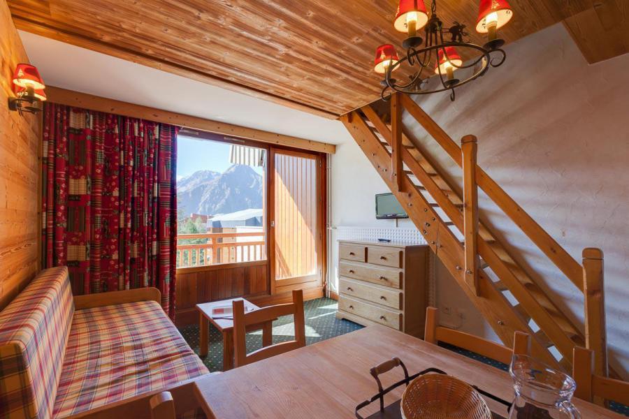 Location au ski Appartement duplex 3 pièces coin montagne 8 personnes - Résidence Meijotel - Les 2 Alpes - Séjour