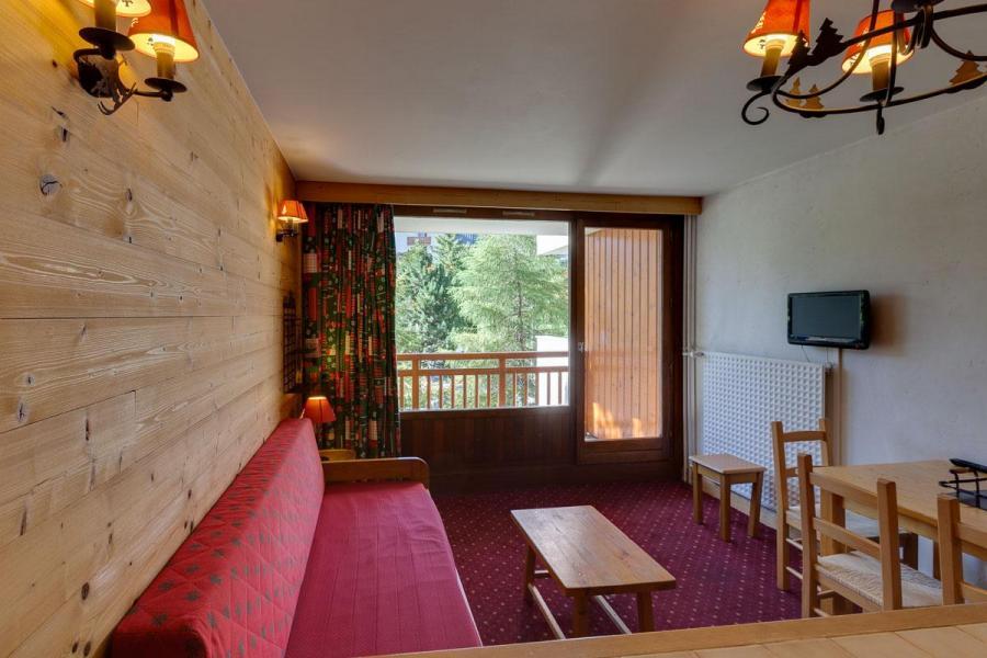 Location au ski Studio 4 personnes (021) - Residence Meijotel Dizaines - Les 2 Alpes - Séjour