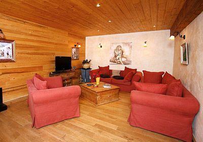 Location au ski Chalet mitoyen 5 pièces 12 personnes - Chalet Harmonie - Les 2 Alpes - Coin séjour