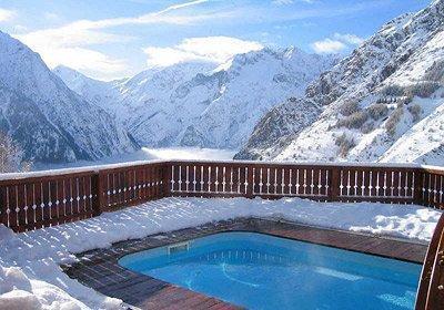 Location au ski Chalet L'ancien - Les 2 Alpes - Piscine