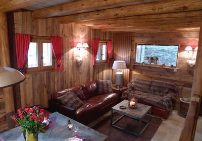 Location au ski Chalet 4 pièces 8 personnes - Chalet Les Alpages - Les 2 Alpes - Coin séjour
