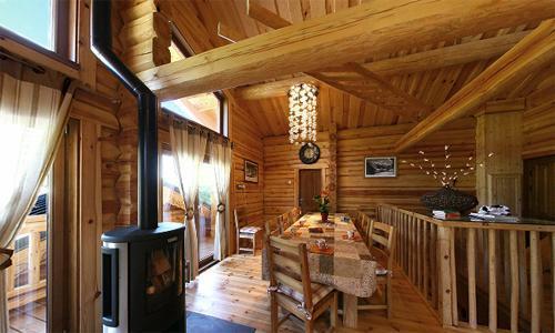 Location au ski Chalet 6 pièces 12 personnes - Chalet Leslie Alpen - Les 2 Alpes - Poêle à bois