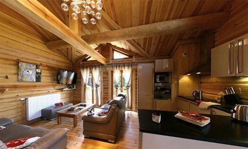 Location au ski Chalet 6 pièces 12 personnes - Chalet Leslie Alpen - Les 2 Alpes - Séjour