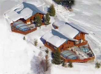 Location au ski Chalet 7 pièces 12 personnes - Chalet Soleil Levant - Les 2 Alpes - Extérieur hiver
