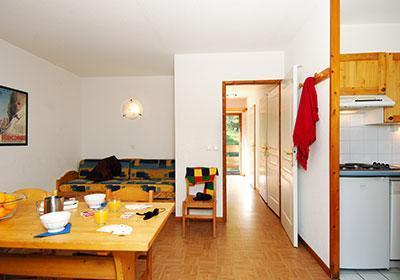 Location au ski Residence Le Flocon D'or - Les 2 Alpes - Kitchenette
